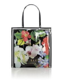 Ted Baker Meecon black floral large tote bag