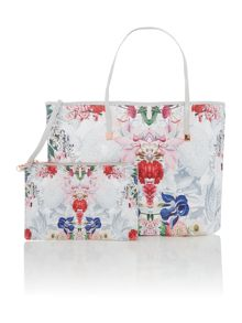 Ted Baker Izabela white floral large tote bag