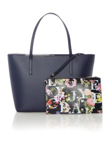 Ted Baker Arena navy large tote bag