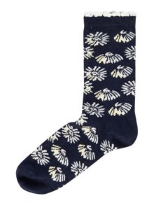 Linea Daisy All Over Print Sock