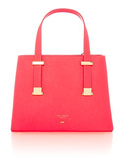 Samirra orange small tote bag
