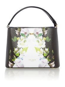 Ted Baker Baila black floral small tote bag