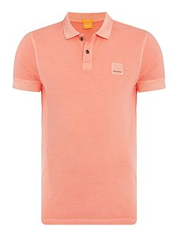 Pascha Slim Fit Patch Logo Polo Shirt