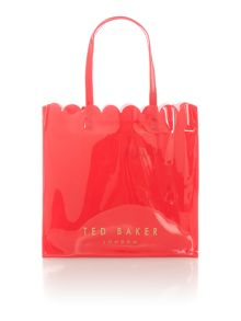 Ted Baker Scalcon bowcon orange scallop edge large tote bag