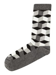 Linea Geo Black Sock