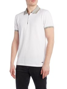 Hugo Boss Pejo fashion fit tipped polo shirt