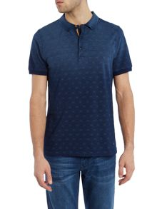 Hugo Boss Pachouly fashion fit faded geo print polo shirt