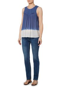 Linea Weekend Dip dye sleeveless blouse