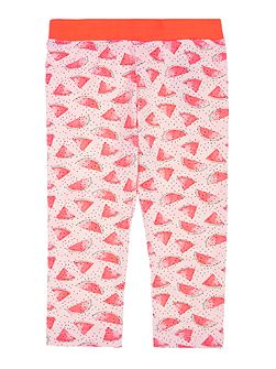 Girls Watermelon all over print leggings