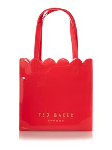 Ted Baker Mycon bowcon orange scallop edge small tote bag