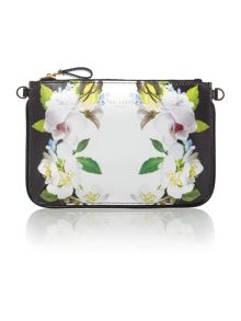 Ted Baker Lizel black floral cross body bag