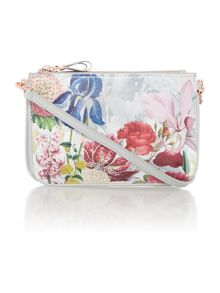 Ted Baker Tressa white floral cross body bag