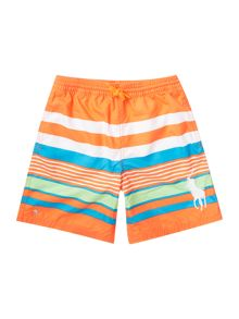 Polo Ralph Lauren Boys Big Pony Player Multi Stripe Swim Shorts