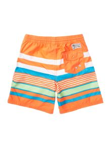 Boys Big Pony Player Multi Stripe Swim Shorts