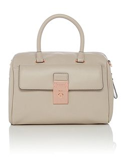 Elviee light grey small bowling bag