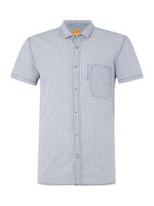 Hugo Boss Ezippoe regular fit short sleeve gingham shirt