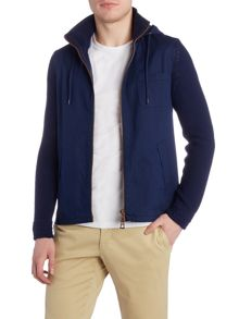 Hugo Boss Avear detatchable hood knitted jacket