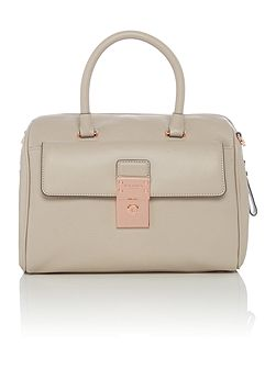 Darcey light grey large bowling bag