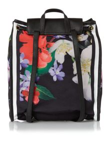 Ted Baker Hilarry black floral backpack