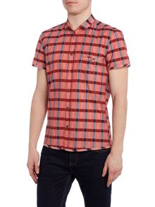 Hugo Boss Esushie regular fit short sleeve check shirt