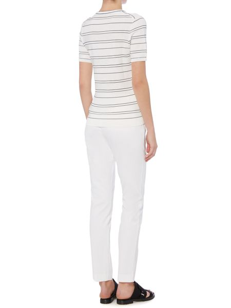 Hugo Boss Arania Textured Cotton Slim Trouser