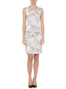 Hugo Boss Dokysina Broken Flower Shift Dress