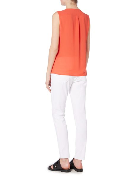 Hugo Boss Binora Sleeveless Gather Neck Blouse