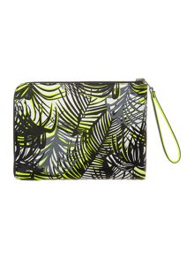 Paul's Boutique Exmouth fleur palm print mini pouch clutch bag