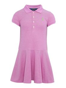 Girls Short Sleev Drop Waist Dress