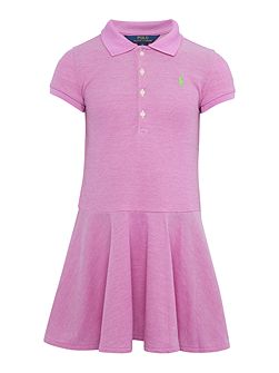 Girls Short Sleeve Polo Dress