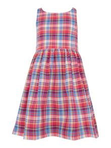 Polo Ralph Lauren Girls Madras Check Dress with Bow