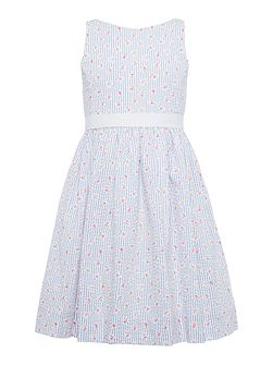 Polo Ralph Lauren Girls Rose Print Dress with