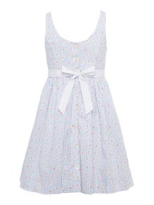 Polo Ralph Lauren Girls Rose Print Dress with Bow