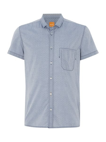 Hugo Boss Ezippoe classic fit short sleeve dobby shirt