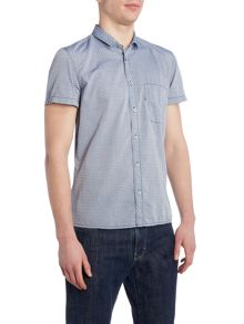 Ezippoe classic fit short sleeve dobby shirt