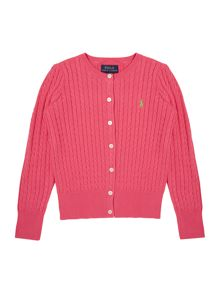 Girls Cable Cardigan