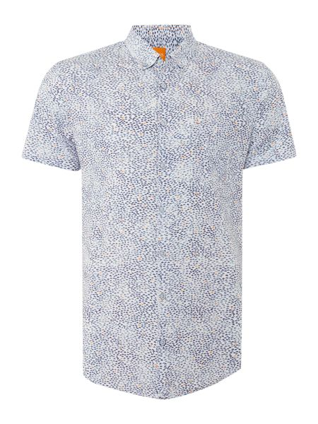 Hugo Boss Erollese classic fit abstract print shirt