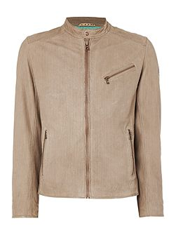Juliano 2 perforated suede harrington jacket