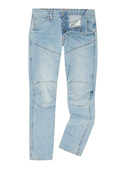 5620 3D wisk tapered light aged jeans