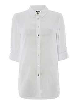 Classic shirt with high-low hem detail