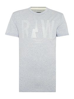 Rightrex regular fit raw crew neck t shirt