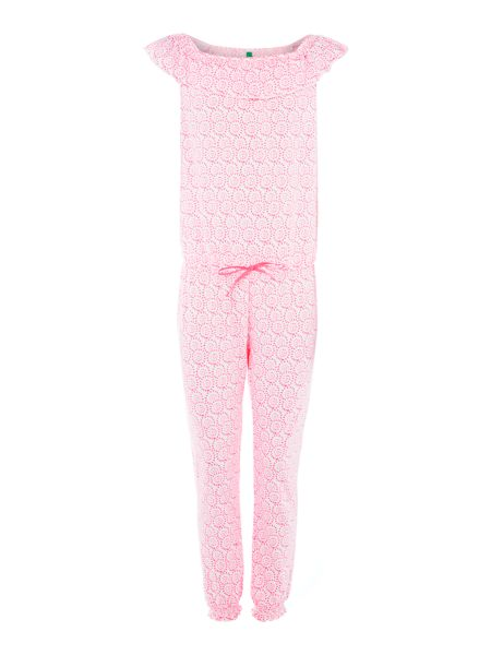 Benetton Girls all over print jumpsuit