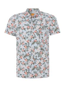 Hugo Boss Ezippoe classis fit floral short sleeve shirt