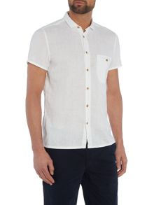 Esushie classic fit linen short sleeve shirt