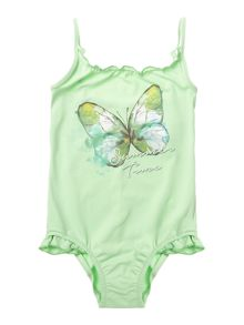 Benetton Girls Butterfly print swimming costume