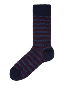 Textured Multi Stripe Sock