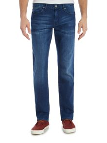 Hugo Boss Orange 24 regular fit mid wash jean