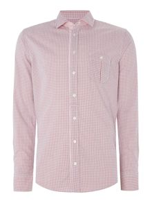 Hugo Boss Eslime slim fit small check shirt