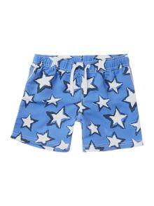 Benetton Boys Star print swim shorts