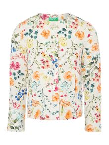 Benetton Girls Floral print jacket